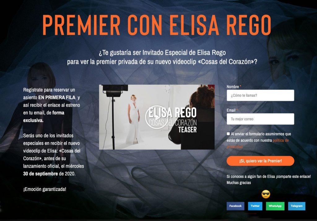 Landing Page Elisa Rego